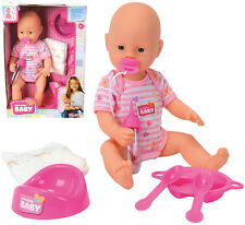 Simba New Baby Born mit Funktionen 38 cm (Pink)