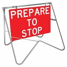 Swing Stand Signs -  PREPARE TO STOP SWING STAND SIGN