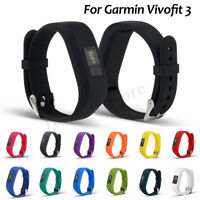 Silicone Belt Watch Band Replacement Wrist Strap For Garmin Vivofit 3