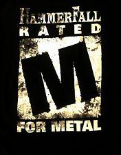 HAMMERFALL cd lgo RATED M FOR METAL Official SHIRT XXXL 3XL new