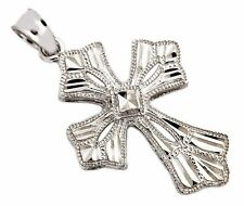 Amazing Detailed Christian Cross Beaded Edge Hand Cut 10k Solid Gold