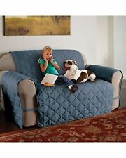ULTIMATE FURNITURE PROTECTOR PET SLIP COVER SOFA LOVESEAT XL MICROFIBER BLUE