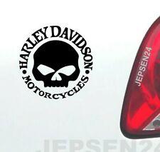 Harley tete de mort voiture autocollant 8 cm s137 Dark Scull couleur au choix communiquer