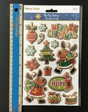 Vintage Recollections Stickers CHRISTMAS SNOWMAN Dimensional Scrapbooking SD32
