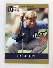 hand signed autographed PGA card ~ HAL SUTTON