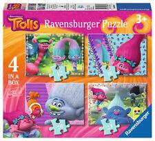 ! nuevo! 06864 Ravensburger Trolls película Rompecabezas 4 en una caja Rompecabezas Niños Niños 3+