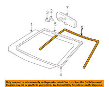 TOYOTA OEM 03-08 Corolla Windshield-Molding Trim 7553313030