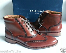 Men's Ankel Brown Leather Boots by Cole Haan size 8.5 wingtip Williams WNG CHKII