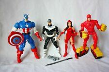 Toybiz lot Marvel action figures Daredevil, Elektra, Bullseye, Captain America