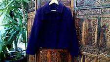 Laura Ashley Winter Coat Jacket UK 14 US 10 EU 42 Purple Wool Cashmere Blend