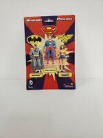 Justice League Batman, Superman, Wonder Woman Bendable Posable Action figures