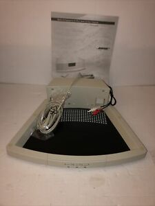 Bose Wave Radio CD Pedestal Platinum White AWACCQ . Open box, untested