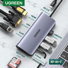Ugreen USB C Type C Hub Adapter 4K HDMI VGA Converter Card Reader Fr Macbook Pro