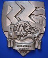 1985 Great Western Railway (GWR) cast aluminium plaque 150yrs Swindon *[18003]
