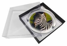A Pretty Zebra Glass Paperweight in Gift Box Christmas Present, AZ-2PW