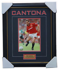 Eric Cantona Signed Manchester United Photo Framed with Plaque + COA Champion