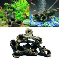3stk Aquarium Terrarium Deko Künstliche Wurzel Gehölz Holz Höhle Für Fisch Neu