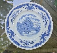 W.H. Grindley Staffordshire England Scenes After Constable Blue B&B Plate