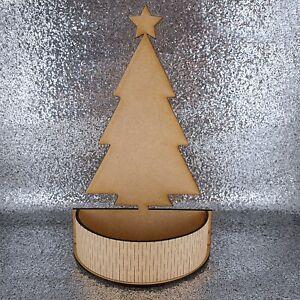Christmas tree sweet present box mdf wood decoration kit