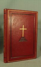 The Ten Commandments Emmet Fox beautiful decorative red leather gold binding