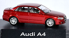 Audi A4 B7 Limousine 2004-08 PC-Vitrine Display-Box rouge grenat métallisé 1:87