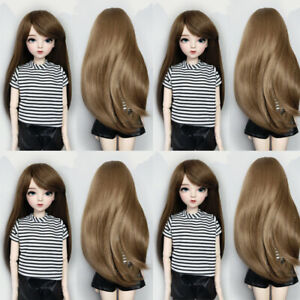 Doll Wigs for 1/3 BJD 60cm Doll Hair Doll Accessories Hand-on Brown Long Hair