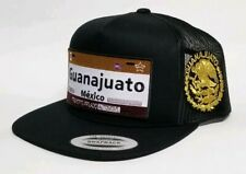GUANAJUATO   MEXICO HAT MESH TRUCKER BLACK    SNAP BACK ADJUSTABLE  NEW