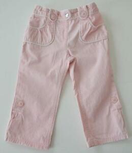 Girls GYMBOREE Sz 18 24m Pink Roll Up Pants Bottoms Capri
