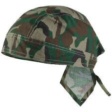 Mil-Tec 100% Cotton Bandana - Headwear Classic Military Cut Scarf Woodland Camo