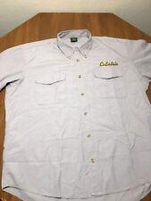 Cabelas Field Shirt Shooting Hunting Work short sleeve Mens XL Khaki