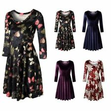 Floral A-Line Dresses for Women with Slimming