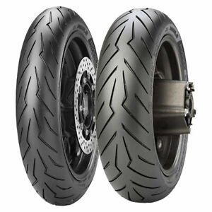 TYRE SET PIRELLI 120/80-14 ROSSO SCOOTER DOT17 + 160/60-15 ROSSO SCOOTER