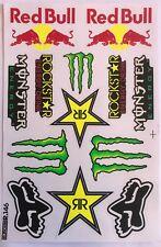 13 Rockstar Energy Drink Stickers Dirt Pit Bike MTB Motocross Helmet BMX Quad