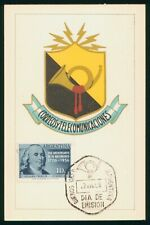 Mayfairstamps Argentina FDC 1956 Post and Telecomm Ben Franklin First Day Card w