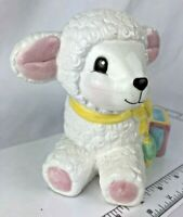 Vintage Napco Lamb sheep Nursery Easter baby Planter