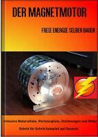 Magnetmotor Freie Energie selber bauen Hardcover Buch Generator Perpetuum Mobile
