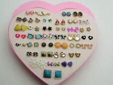 Heart Pearl Fashion Earrings 36Studs Crystal Swan Gems Various Hypoallergenic <3