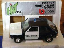 Burago / Bburago HAT  Fiat 127 Vigili Urbani   cod .0132  scala 1:24 sehr selten