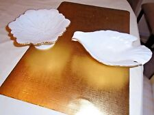 Vintage Lenox Leaf Pedestal Candy Dish & Lenox Dove Candy Dish. Lot of (2)