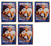(5) 1992 Sports Cards #55 Pavel Bure Hockey Card Lot Vancouver Canucks