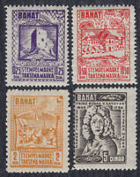 Germany occupation of Serbia 1944 Banat, local issue of revenue stamps, MH