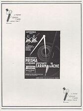 "PUBLICITE CRAYON CARAN D' ACHE "" PRISMA ""   PENCIL AD  1929   -5h"