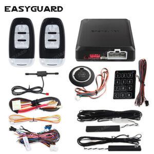 Top Smart Key RFID pke car alarm system remote start push starter keyless entry