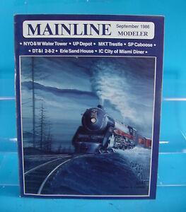 MAINLINE MODELER MAGAZINE SEPTEMBER 1986 SP C50-9, DT&I 2-8-2,UP DEPOT,NYO&W