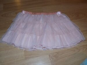 Girl's Size Large 10-12 Freestyle Danskin Pink Tiered Ruffled Dance Tutu Skirt