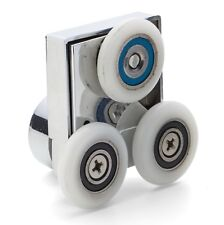 Set of 2 April Triple Shower Rollers/Runners 25mm Wheel Diameter APQ8