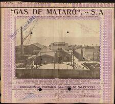 SPAIN  Gas de Mataro SA dd 1923