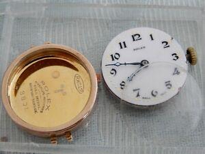 Original 1923 Rolex 9ct Gold Ladies wristwatch for restoration, working & winds