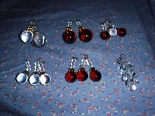 Nice Glass Christmas Ornaments or Fan Pulls  Drop Shapes Grapes
