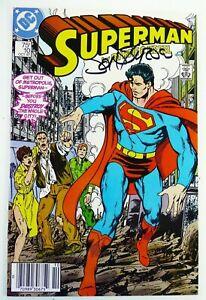 DC SUPERMAN (1987) #10 SIGNED by John BYRNE w/COA NM- (9.2) Ships FREE!